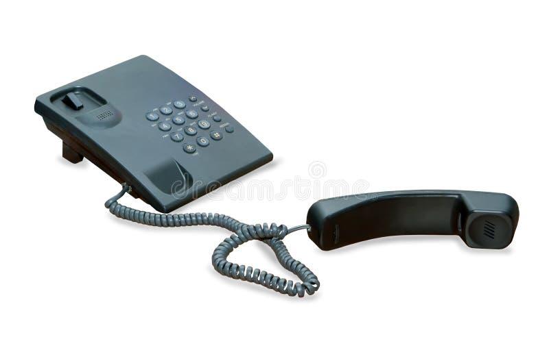 Telefone isolado no fundo branco foto de stock