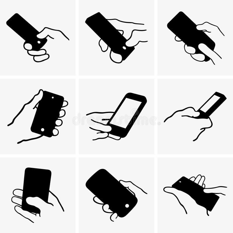 Telefone móvel à disposicão ilustração royalty free