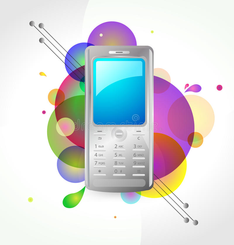 Telefone móvel ilustração stock