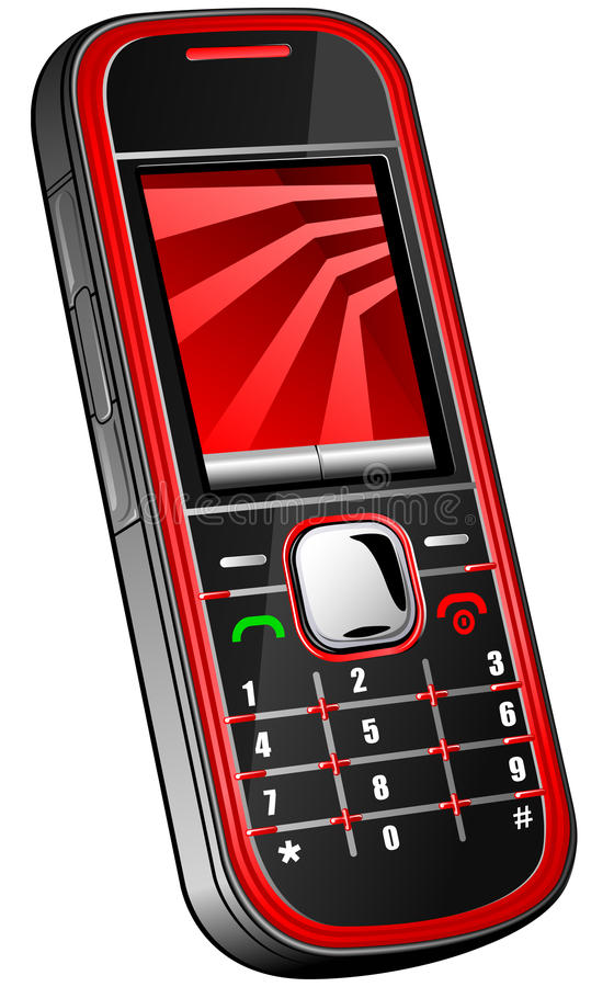 Telefone móvel ilustração royalty free