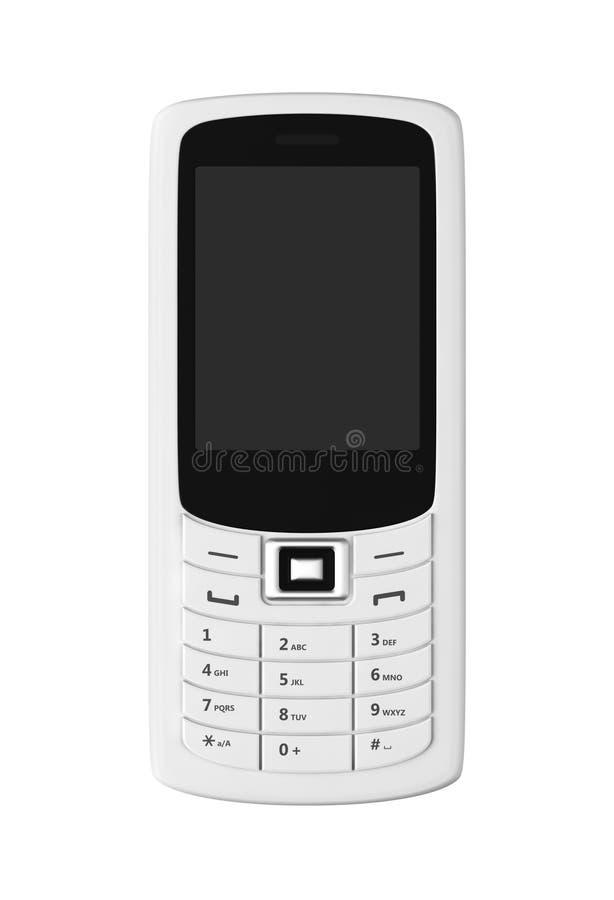 Telefone móvel branco foto de stock
