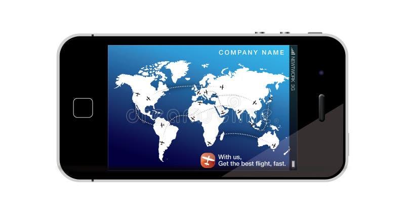 Telefone móvel - conceito de viagem ilustração royalty free