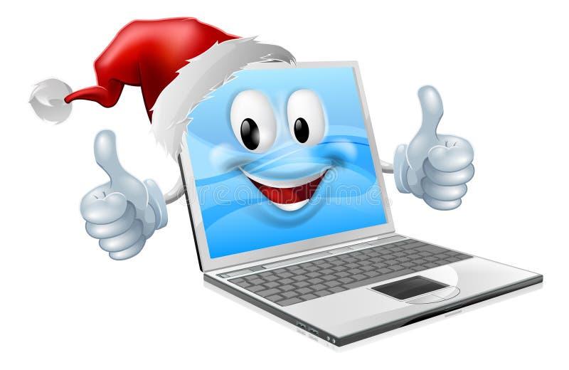 Telefone móvel de Natal feliz ilustração do vetor