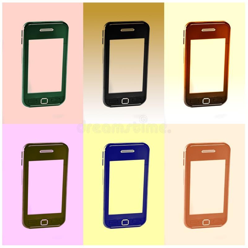 Telefone móvel moderno de tela de toque imagem de stock