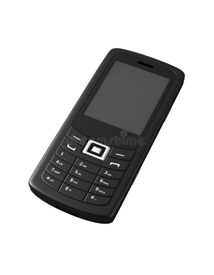Telefone móvel preto fotografia de stock