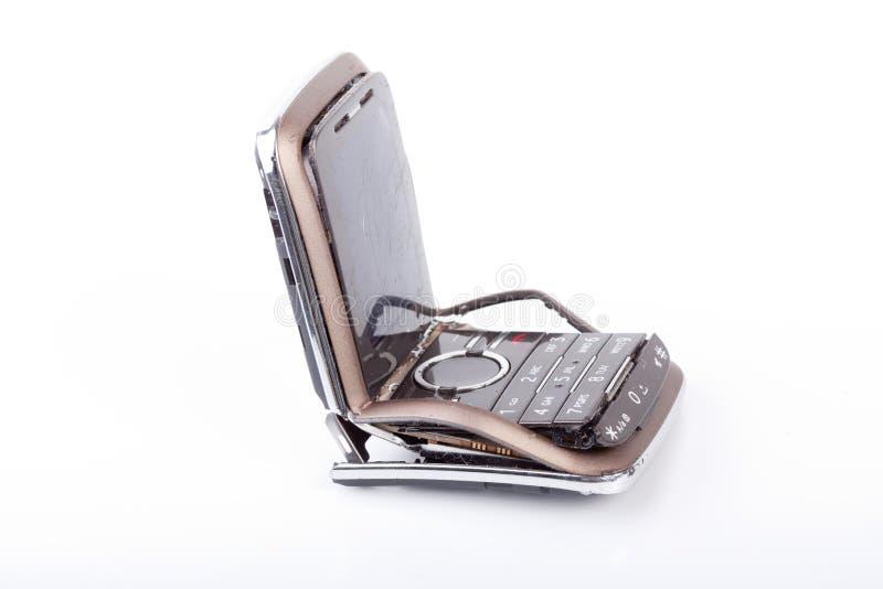 Telefone móvel quebrado imagens de stock