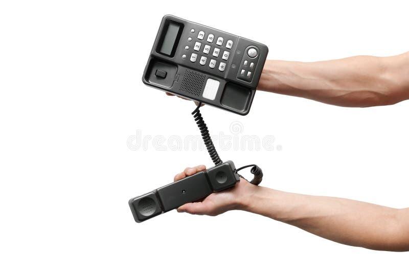 Telefone na mão foto de stock