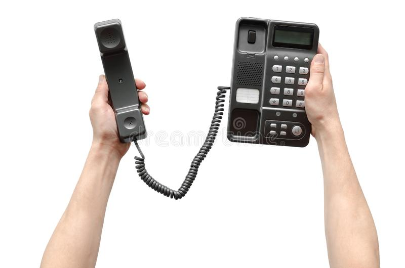 Telefone na mão fotos de stock