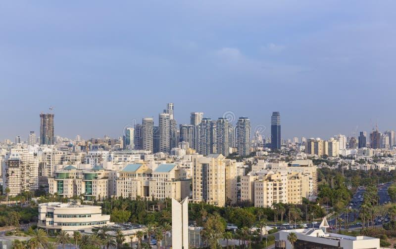 Telefone norte Aviv Skyline At Sunset, telefone Aviv Cityscape, Israel imagem de stock