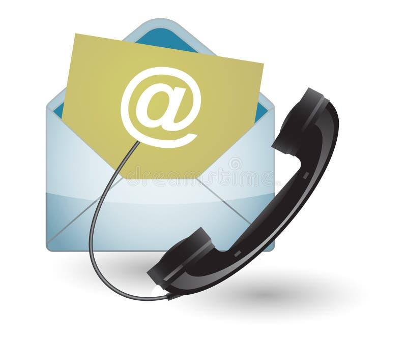 Telefone ou correio ilustração do vetor