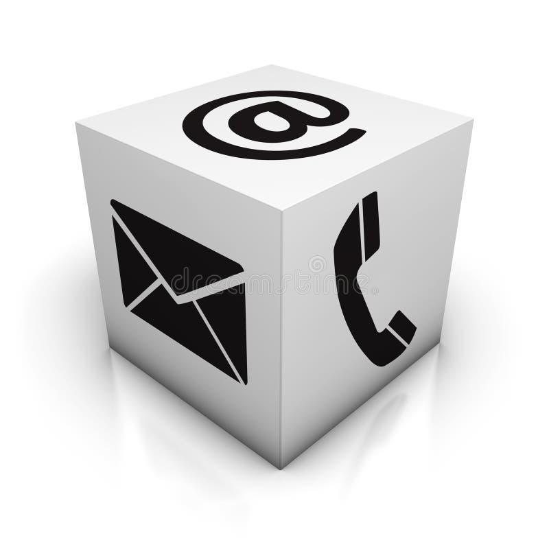 Telefone ou correio ilustração royalty free
