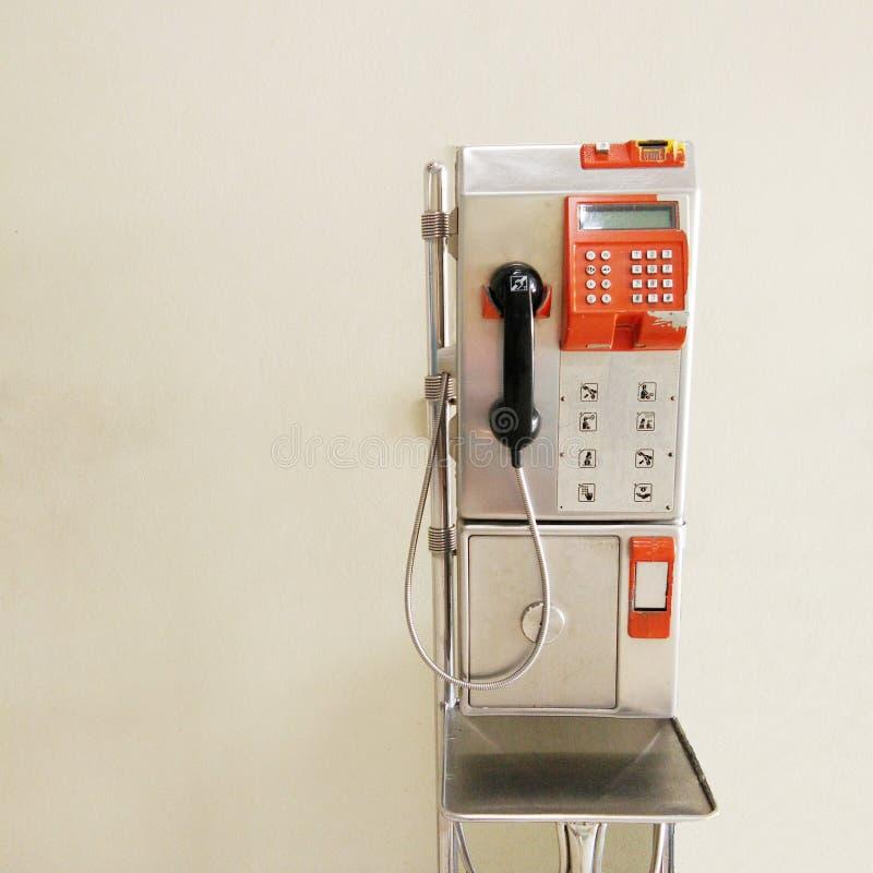 Telefone público foto de stock