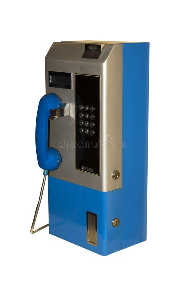 Telefone público moderno isolado no fundo branco imagens de stock royalty free