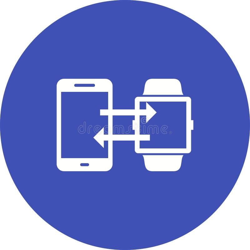 Telefone para olhar a sincronização ilustração royalty free