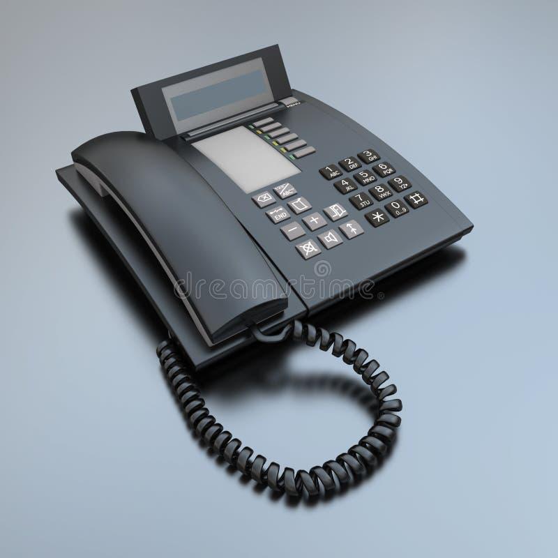 Download Telefone preto do negócio ilustração stock. Ilustração de indicador - 10067510