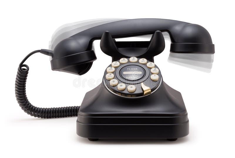 Telefone que soa fora do gancho foto de stock