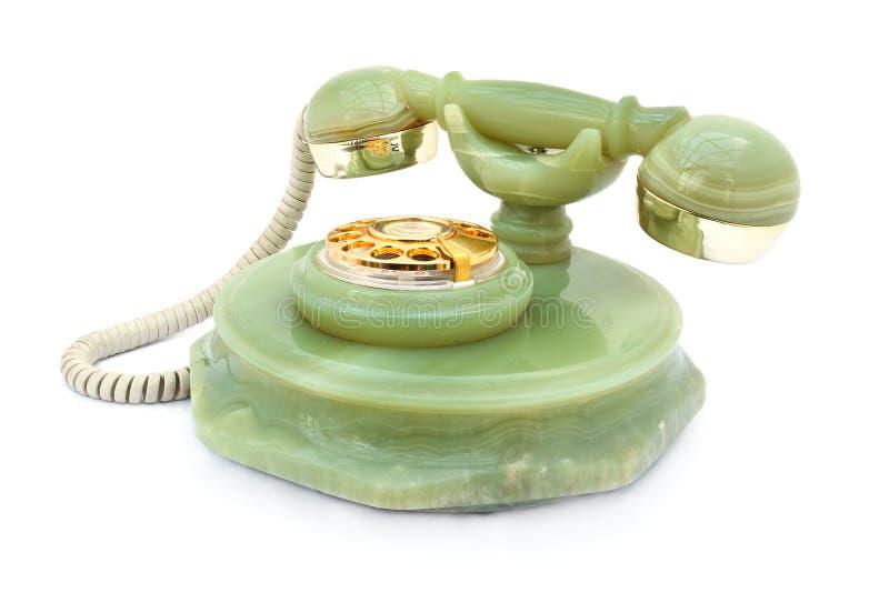Telefone retro do Onyx fotografia de stock royalty free