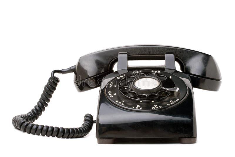 Telefone retro preto velho fotografia de stock
