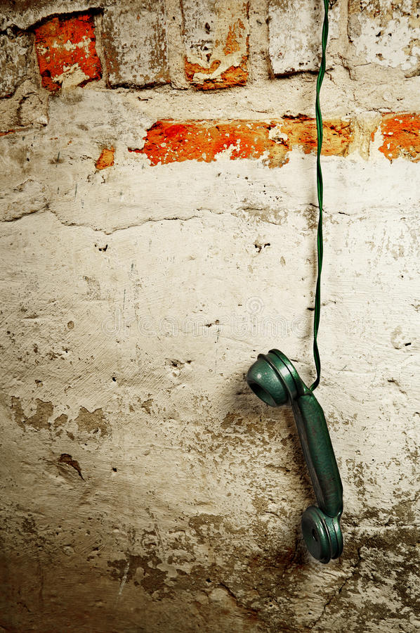 Telefone retro - receptor do monofone de telefone do vintage fotos de stock royalty free