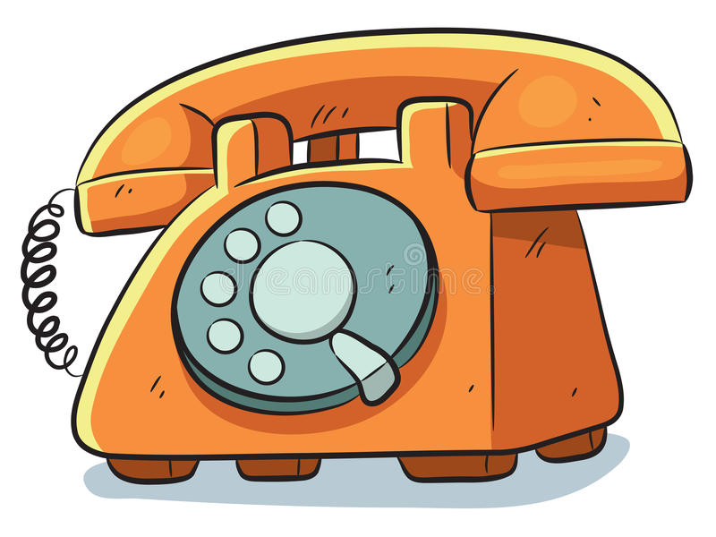 Telefone velho ilustração stock