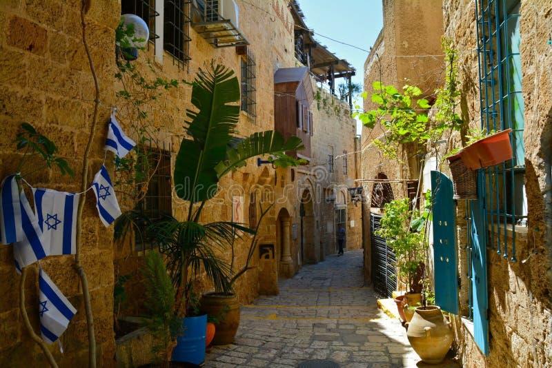 Telefone velho Aviv Israel da cidade de Jaffa foto de stock royalty free