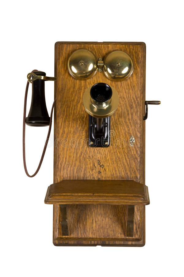 Telefone velho da parede fotografia de stock royalty free