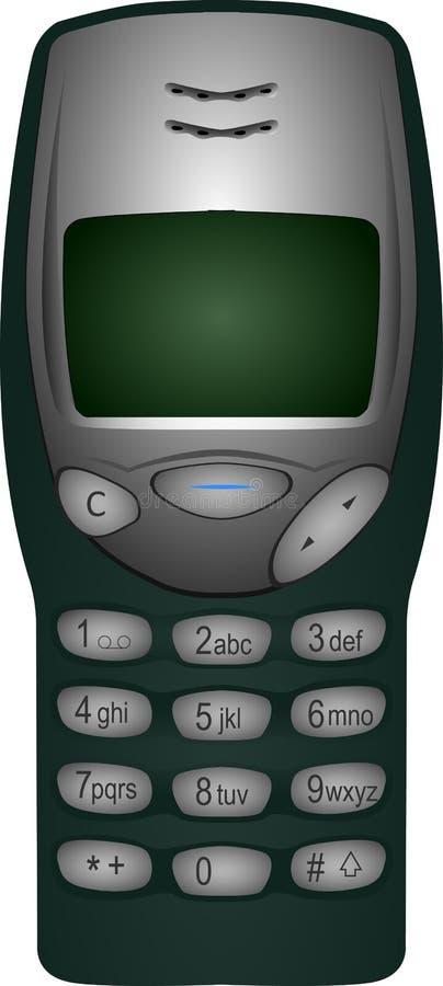 Telefone velho de Nokia 3210 ilustração stock