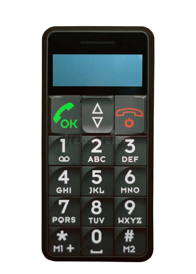 Telefone velho típico com chaves e botões imagens de stock