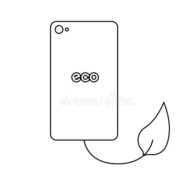 Download Telefone verde do eco ilustração stock. Ilustração de orvalho - 80102367