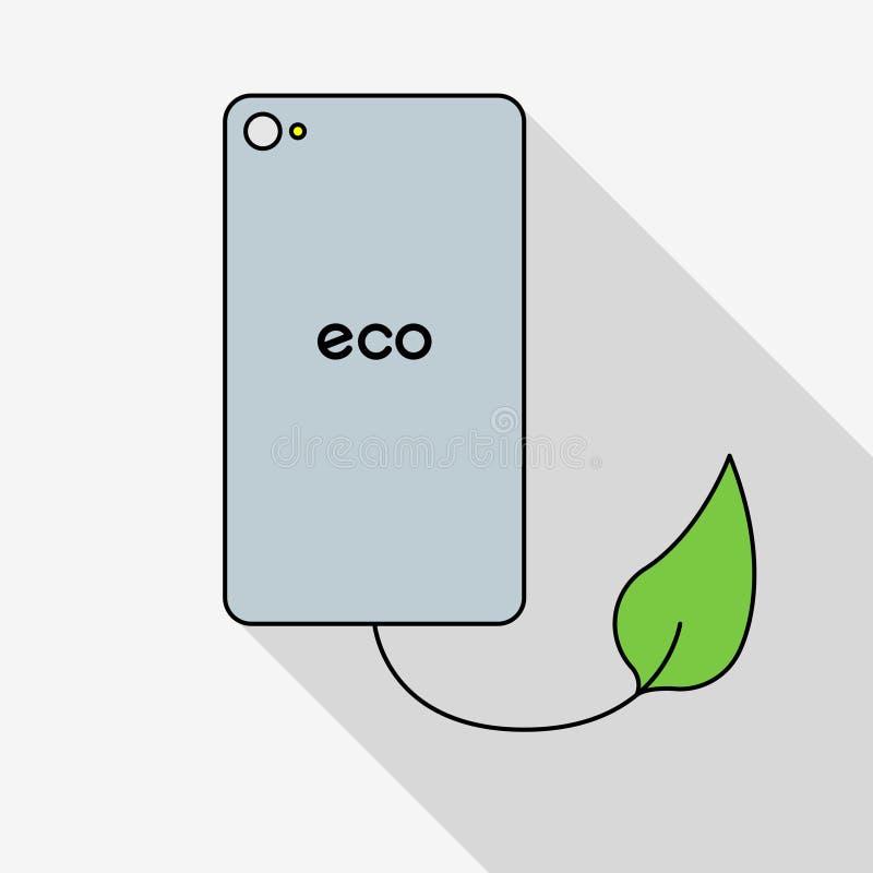 Download Telefone verde do eco ilustração stock. Ilustração de naughty - 80103002