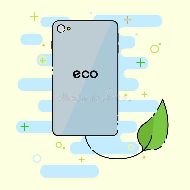 Download Telefone verde do eco ilustração stock. Ilustração de digital - 80103021