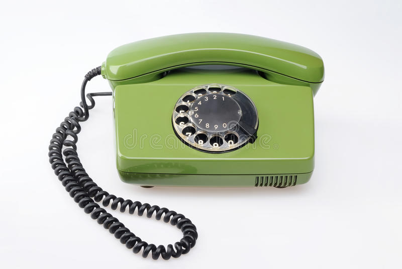 Telefone verde do vintage imagem de stock royalty free