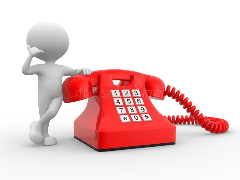 Telefone vermelho ilustração do vetor