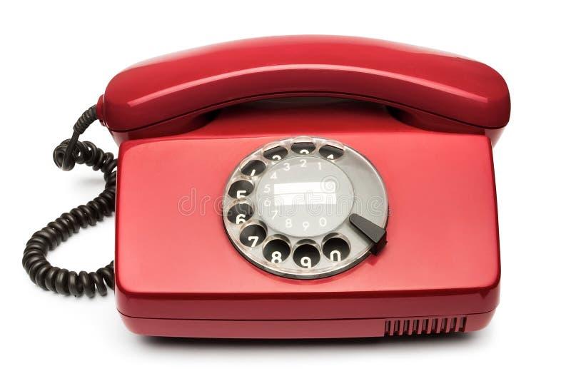 Telefone vermelho do vintage fotografia de stock royalty free