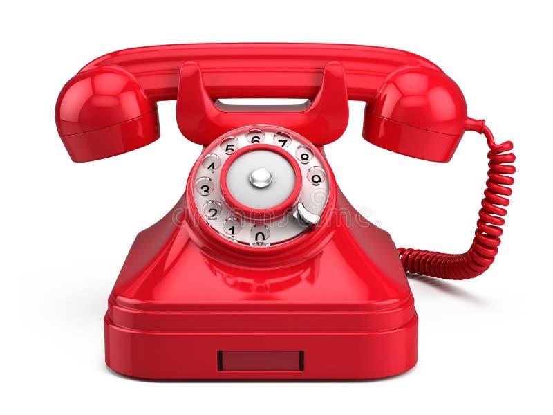 Telefone vermelho retro velho ilustração do vetor