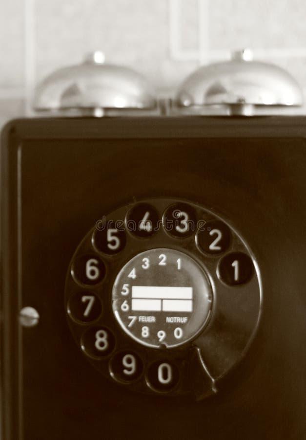 Telefone violeta-verde brilhante fotografia de stock