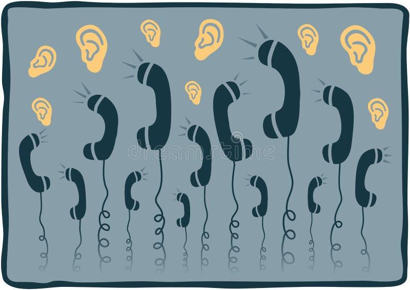 Telefones ilustração do vetor