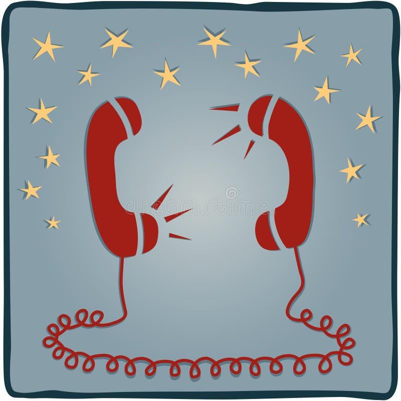 Telefones ilustração royalty free