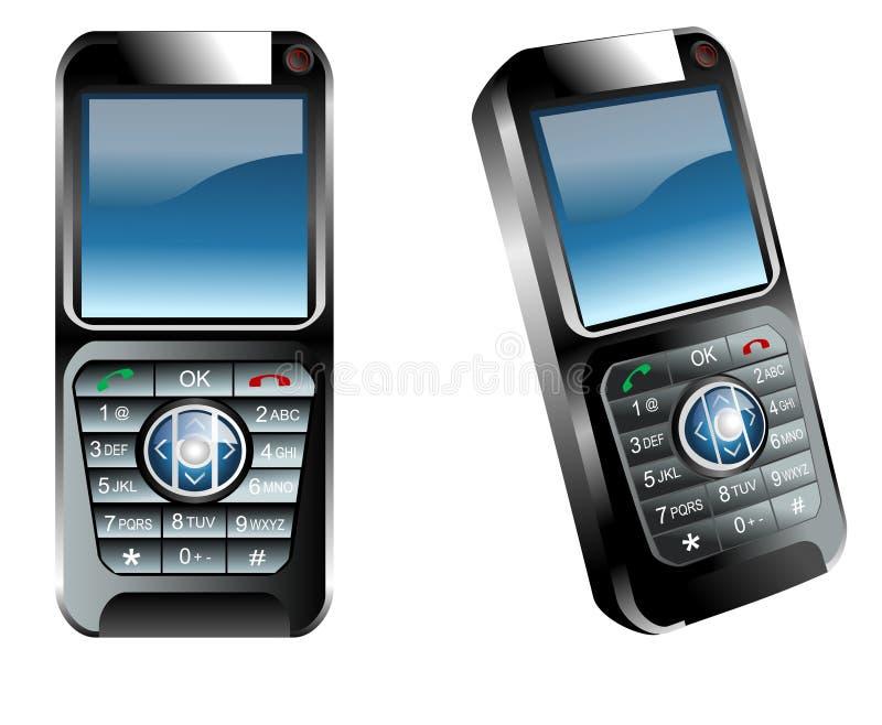 Telefones de pilha ilustração royalty free