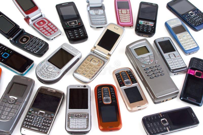 Telefones de pilha diferentes