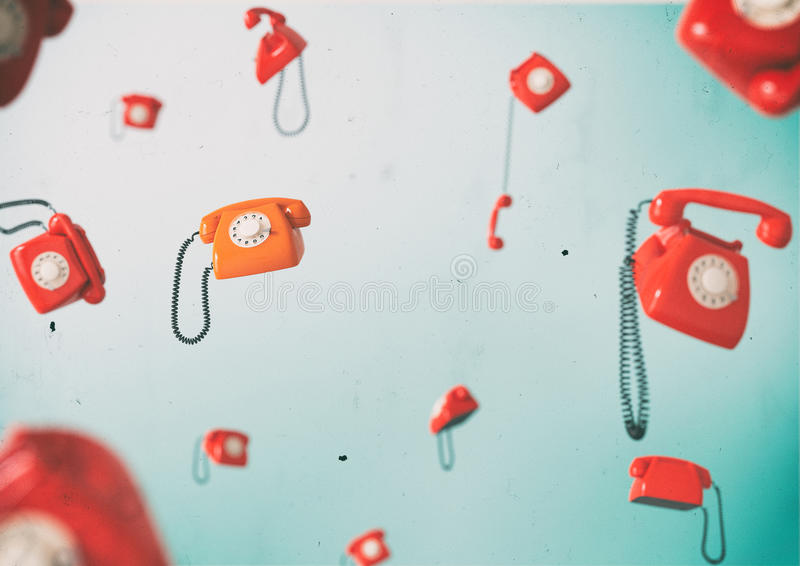 Telefones do vintage fotografia de stock royalty free
