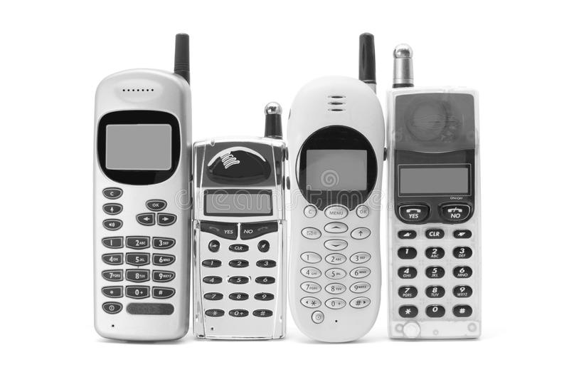 Telefones móveis fotos de stock