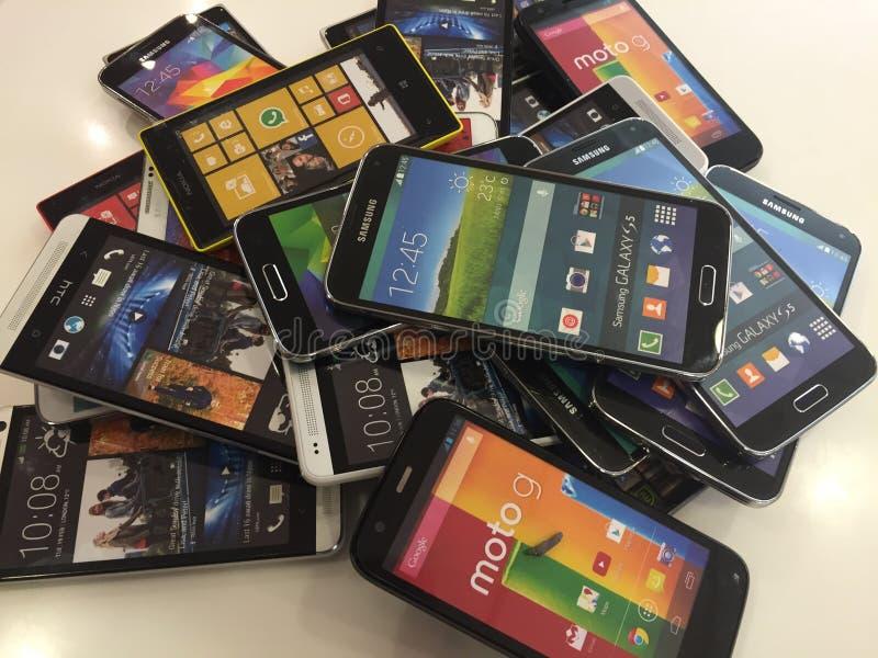 Telefones móveis imagem de stock