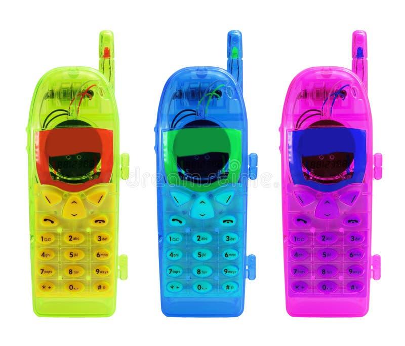 Telefones móveis do brinquedo fotos de stock