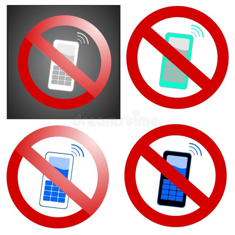 Telefones móveis proibidos ilustração royalty free