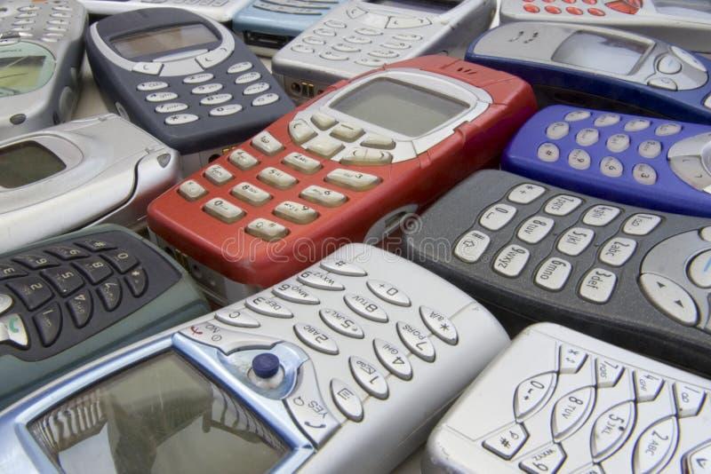 Telefones móveis velhos 2 imagens de stock royalty free