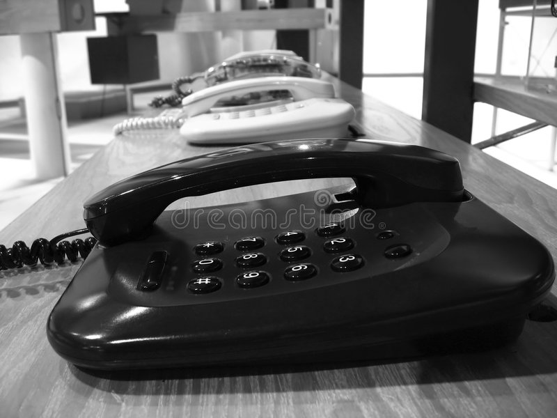 Telefones tradicionais fotos de stock