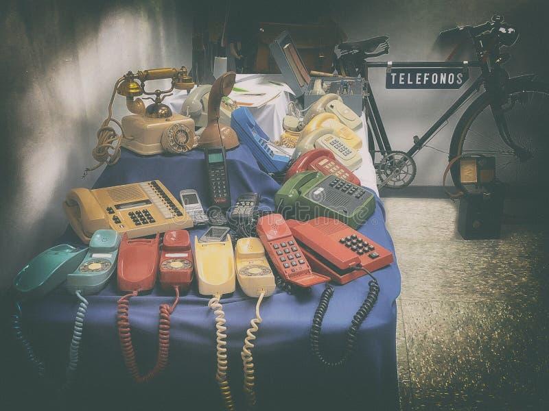 Telefones velhos imagens de stock