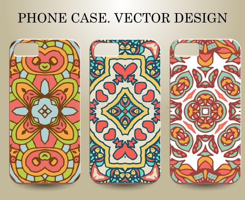 Telefonfall Vektor ESP10 Dekorativa dekorativa beståndsdelar vektor illustrationer