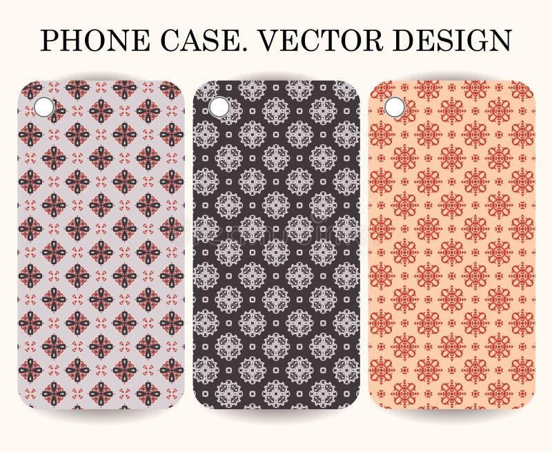 Telefonfall Vektor ESP10 Dekorativa dekorativa beståndsdelar royaltyfri illustrationer